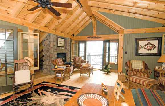 Timber Frame Boat House