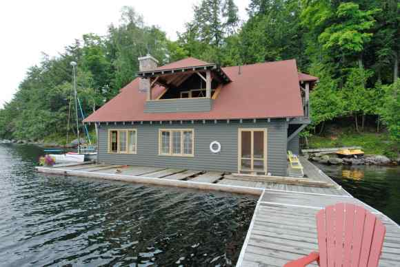 Luxury Timberframe Boathouse