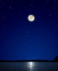 A Full Moon at Night