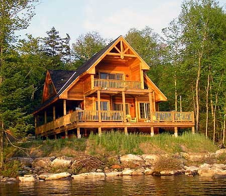 Lake house plans for Country cabin designs
