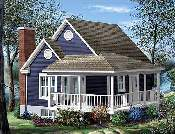 Home Plans HOMEPW24179 - 974 Square Feet, 1 Bedroom 1 Bathroom