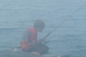 James fishing on a Misty Morning