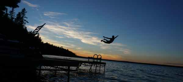 A Dive at the Cottage Dock